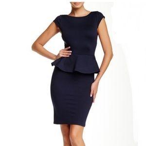 alice + olivia Victoria Short Sleeve Peplum Dress